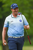 Brian Stuard (USA) is all smiles after sinking his birdie putt on 2 during round 4 of the 2019 Charles Schwab Challenge, Colonial Country Club, Ft. Worth, Texas,  USA. 5/26/2019.<br /> Picture: Golffile | Ken Murray<br /> <br /> All photo usage must carry mandatory copyright credit (© Golffile | Ken Murray)