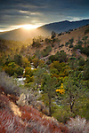 Stormy sunset over the Kern River canyon, Kern County, California