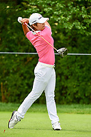 Haru Nomura (JPN) watches her tee shot on 11 during Thursday's round 1 of the 2017 KPMG Women's PGA Championship, at Olympia Fields Country Club, Olympia Fields, Illinois. 6/29/2017.<br /> Picture: Golffile | Ken Murray<br /> <br /> <br /> All photo usage must carry mandatory copyright credit (&copy; Golffile | Ken Murray)