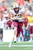 College Park, MD - SEPT 22, 2018: Minnesota Golden Gophers tight end Ko Kieft (42) catches a wide open pass during game between Maryland and Minnesota at Capital One Field at Maryland Stadium in College Park, MD. The Terrapins defeated the Golden Bears 42-13 to move to 3-1 on the season. (Photo by Phil Peters/Media Images International)