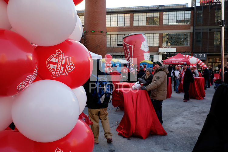 Toronto, ON, Canada - Saturday Dec. 10, 2016: Fan Fest prior to the MLS Cup finals at BMO Field.