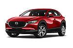 Stock pictures of low aggressive front three quarter view of 2020 Mazda CX-30 Select 5 Door SUV Low Aggressive