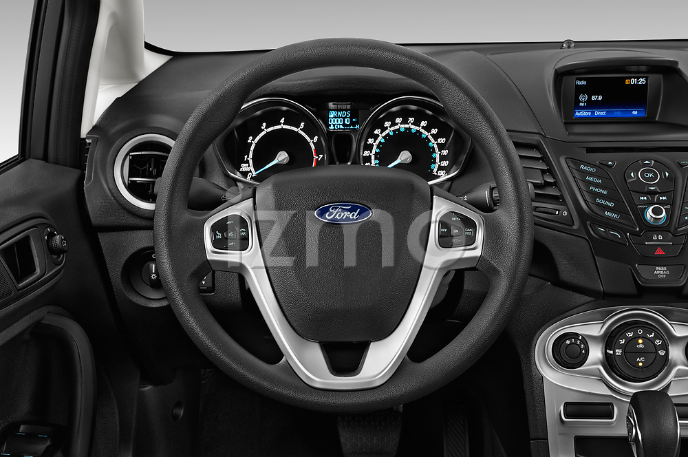Car pictures of steering wheel view of a 2019 Ford Fiesta SE 5 Door Hatchback