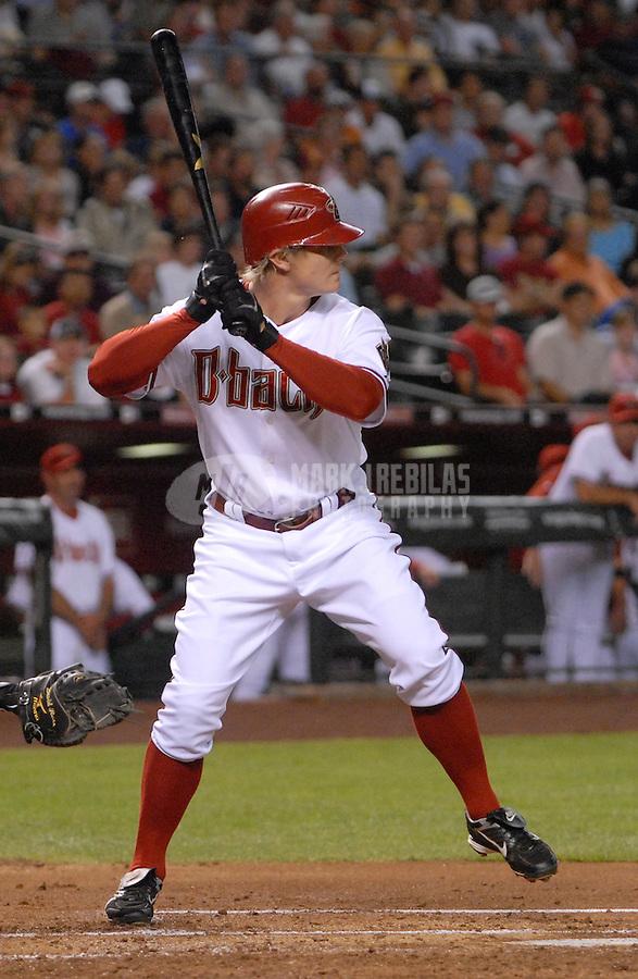Apr 11, 2007; Phoenix, AZ, USA; Arizona Diamondbacks center fielder (22) Eric Byrnes at bat against the Cincinnati Reds at Chase Field in Phoenix, AZ. Mandatory Credit: Mark J. Rebilas