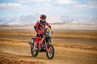 6th January 2020, Al Wajh to Neom, Saudi Arabia;   16 Benavides Luciano arg, KTM, Red Bull KTM Factory Team Bike, during Stage 2 of the Dakar 2020 between Al Wajh and Neom, 401 km  - Editorial Use