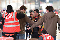 Security checks at the London stadium during West Ham United vs Arsenal, Premier League Football at The London Stadium on 12th January 2019