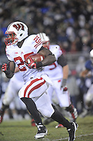 24 November 2012:  Wisconsin RB Melvin Gordon (25) turns the corner.The Penn State Nittany Lions defeated the Wisconsin Badgers 24-21 in OT overtime at Beaver Stadium in State College, PA.