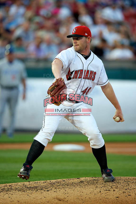 Indianapolis Indians pitcher Rudy Owens #48 during the Triple-A All-Star game featuring the Pacific Coast League and International League top players at Coca-Cola Field on July 11, 2012 in Buffalo, New York.  PCL defeated the IL 3-0.  (Mike Janes/Four Seam Images)