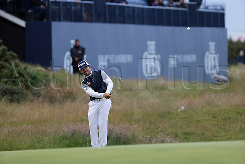 19.07.2015. Old Course, St Andrews, Fife, Scotland.  Louis Oosthuizen of South Africa in action on the 17th hole<br />