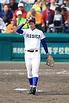 Nobuaki Nagatani (Riseisha),<br /> APRIL 2, 2014 - Baseball :<br /> 86th National High School Baseball Invitational Tournament final game between Ryukoku-Dai Heian 6-2 Riseisha at Koshien Stadium in Hyogo, Japan. (Photo by Katsuro Okazawa/AFLO)