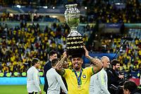 Rio de Janeiro (RJ), 07/07/2019 - Copa América / Final / Brasil x Peru -  Gabriel Jesus durante premiação de Campeão da Copa América, no Estádio Maracanã, neste domingo, 07. (Foto: Ricardo Botelho/Brazil Photo Press)