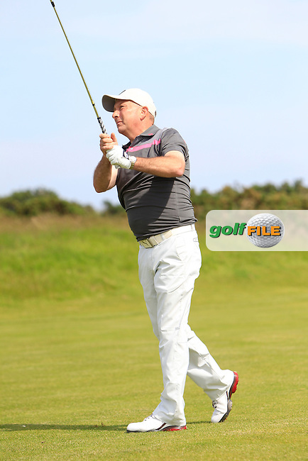 John Garvey (Seapoint) on the 7th tee during Round 1 of the Irish Amateur Close Championship at Seapoint Golf Club on Saturday 7th June 2014.<br /> Picture:  Thos Caffrey / www.golffile.ie