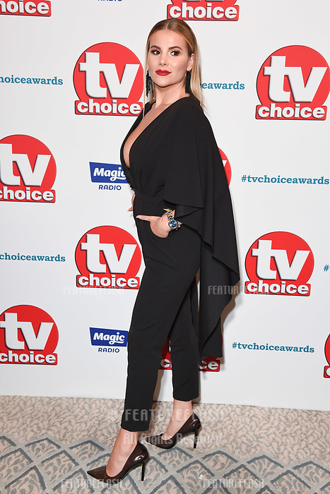LONDON, UK. September 10, 2018: Georgia Kousoulou at the TV Choice Awards 2018 at the Dorchester Hotel, London.<br /> Picture: Steve Vas/Featureflash