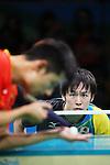 (L-R) Zhang Jike (CHN), Koki Niwa (JPN), <br /> AUGUST 9, 2016 - Table Tennis : <br /> Men's Singles Quarter-final <br /> at Riocentro - Pavilion 3 <br /> during the Rio 2016 Olympic Games in Rio de Janeiro, Brazil. <br /> (Photo by Yohei Osada/AFLO SPORT)
