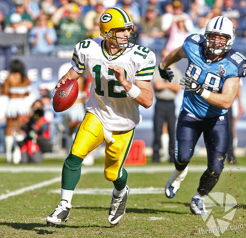 Tennessee Titans host the Green Bay Packers at LP Field in Nashville, Tennessee on November 2, 2008. The Titans defeated the Packers 19-16 in OT. (Photo by Frederick Breedon IV)