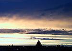 Vue de Paris au crépuscule.