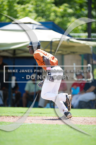 Nile Goings #24 during the Team One South Showcase presented by Baseball Factory at Chappell Park on July 13, 2012 in Atlanta, Georgia.  (Copyright Mike Janes Photography)