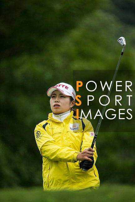 Su Yeon Jang of South Korea tees off during Round 1 of the World Ladies Championship 2016 on 10 March 2016 at Mission Hills Olazabal Golf Course in Dongguan, China. Photo by Victor Fraile / Power Sport Images