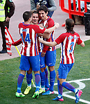 Atletico de Madrid's Gabi Fernandez, Antoine Griezmann, Stefan Savic  and Filipe Luis celebrate goal during La Liga match. March 19,2017. (ALTERPHOTOS/Acero)