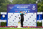 Hao Chen of China tees off on the 1st hole during the Round 1 of the Faldo Series Asia Grand Final at Mission Hills on March 2, 2011 in Shenzhen, China. Photo by Raf Sanchez / Faldo Series