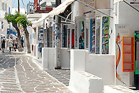 Along the narrow winding streets of Mykonos Town, most important of which is Matoyianni, visitors can buy clothes, jewelry and art designed by some of the world's most celebrated designers and artists.