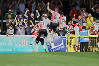 Jake Hyde of Woking scores the first goal for his team and celebrates with fans during Woking vs Solihull Moors, Vanarama National League Football at The Laithwaite Community Stadium on 24th August 2019