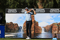 Sebastian Heisele (GER) in action on the 12th during Round 2 of the ISPS Handa World Super 6 Perth at Lake Karrinyup Country Club on the Friday 9th February 2018.<br /> Picture:  Thos Caffrey / www.golffile.ie<br /> <br /> All photo usage must carry mandatory copyright credit (&copy; Golffile | Thos Caffrey)