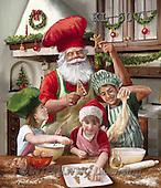 Interlitho, CHRISTMAS SANTA, SNOWMAN, WEIHNACHTSMÄNNER, SCHNEEMÄNNER, PAPÁ NOEL, MUÑECOS DE NIEVE, paintings+++++,santa,kitchen,KL6071,#X# ,Marcello