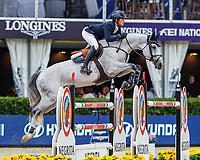 IRL-Darragh Kenny rides Sweet Tricia during the Queens Cup - Segura Viudas Trophy. Final-1st. 2019 CSIO Barcelona - Longines FEI Nations Cup Jumping Final. Reial Club de Polo de Barcelona. Spain. Saturday 5 October. Copyright Photo: Libby Law Photography