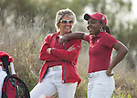 Stanford, CA - February 16, 2013.  Stanford Women's Golf Team at the Peg Barnard Invitational at Stanford Golf Course...