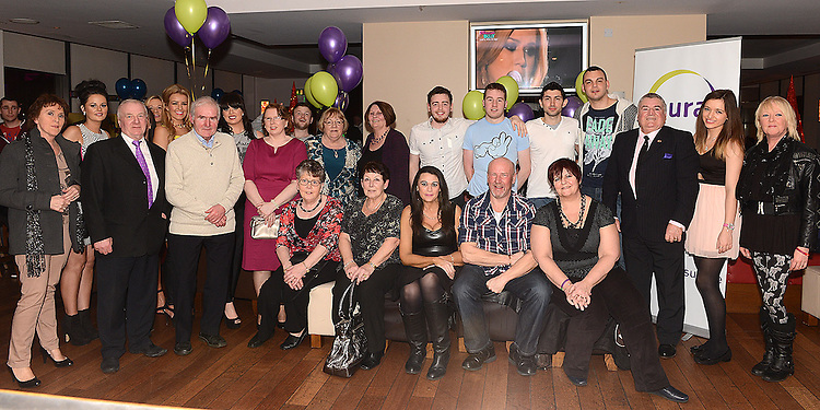 Staff and members of Aura Gym enjoying a night out in Brú. Photo:Colin Bell/pressphotos.ie