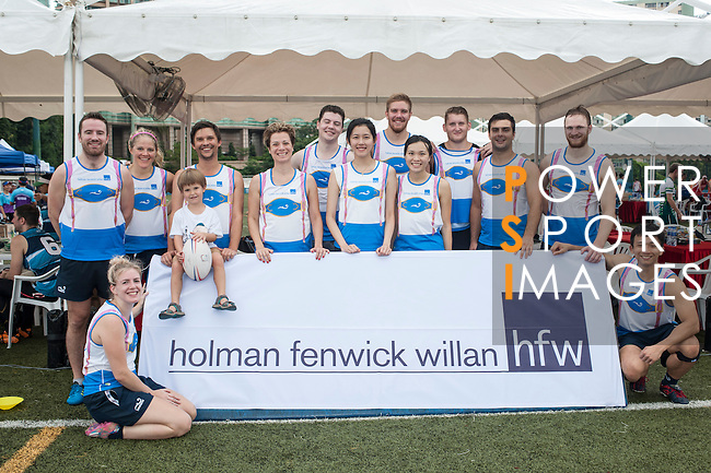 Holman Fenwick Willan team during Swire Touch Tournament on 03 September 2016 in King's Park Sports Ground, Hong Kong, China. Photo by Marcio Machado / Power Sport Images