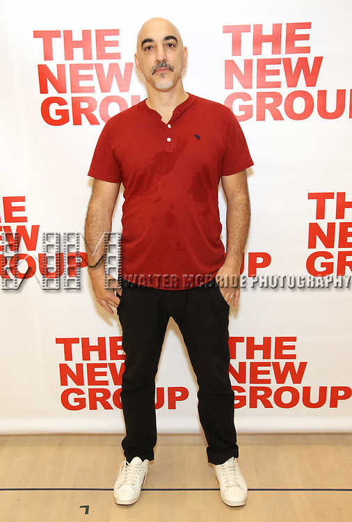 Seth Zvi Rosenfeld attends the cast photo call for the New Group Production on 'Downtown Race Riot' on October 23, 2017 at The New 42nd Street Studios in New York City.
