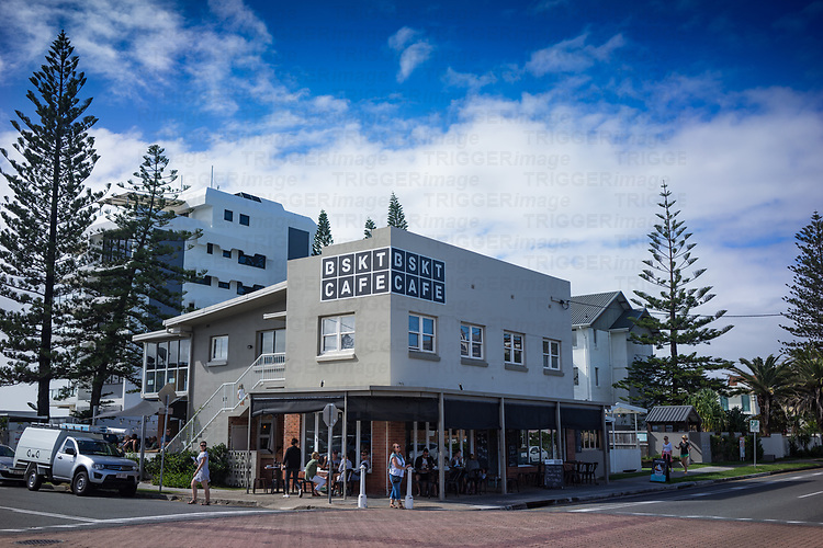 Exterior of cafe in Miami on the Gold Coast in Australia