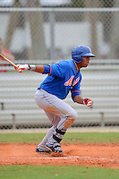 GCL Mets first baseman Dominic Smith (22) during the first game of a double header against the GCL Cardinals on July 17, 2013 at Roger Dean Complex in Jupiter, Florida.  GCL Cardinals defeated the GCL Mets 6-5 in twelve innings.  (Mike Janes/Four Seam Images)