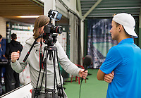 Januari 24, 2015, Rotterdam, ABNAMRO, Supermatch, interview with Vincent van der Honert<br /> Photo: Tennisimages/Henk Koster