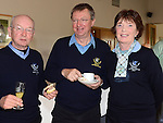 Ben Daly, Bill and Maureen O'Brien pictured at the Captain's Drive in at Seapoint Golf Club. Photo:Colin Bell/pressphotos.ie