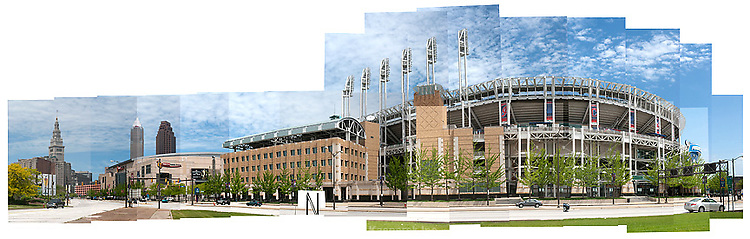 Progressive Field, home of the Cleveland Indians in downtown Cleveland.