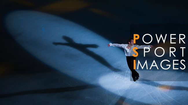 TAIPEI, TAIWAN - JANUARY 25:  Takahito Mura of Japan performs at the Gala Exhibition event during the Four Continents Figure Skating Championships on January 25, 2014 in Taipei, Taiwan.  Photo by Victor Fraile / Power Sport Images *** Local Caption *** Takahito Mura