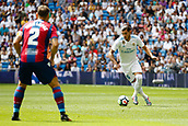 9th September 2017, Santiago Bernabeu, Madrid, Spain; La Liga football, Real Madrid versus Levante; Theo Hernandez (15) of Real Madrid with the ball