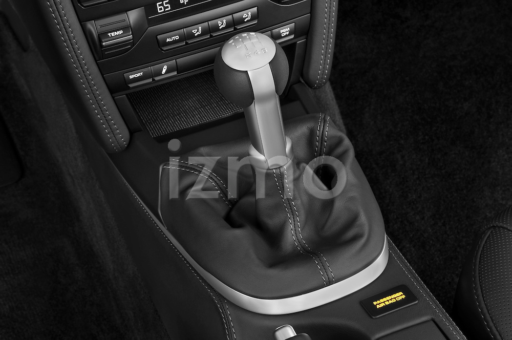 Gear shift deatil view of a 2009 Porsche Carrera Turbo