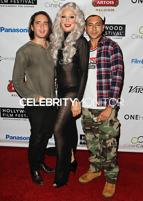 HOLLYWOOD, LOS ANGELES, CA, USA - OCTOBER 16: Dan Sickles, Jason Carrion, Antonio Santini arrive at the 2014 Hollywood Film Festival - Opening Night Gala held at ArcLight Hollywood on October 16, 2014 in Hollywood, Los Angles, California, United States. (Photo by Celebrity Monitor)