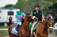 ELMONT, NY - JUNE 10: Gormley  with victor Espinoza at Belmont Park on June 10, 2017 in Elmont, New York. (Photo by Alex Evers/Eclipse Sportswire/Getty Images)