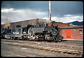 #494 K-37 beside engine house - Chama.<br /> D&amp;RGW  Chama, NM