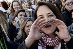 Women's march Rome con Asia Argento
