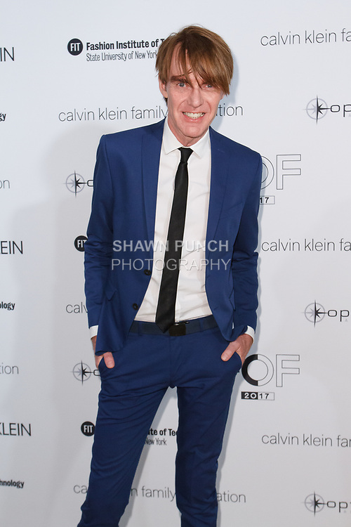 Ken Downing arrives at the Future of Fashion 2017 runway show at the Fashion Institute of Technology on May 8, 2017.