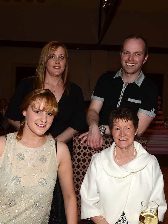 Elaine and Amanda Crabbe, Brenda Ctokes and Patti Sharkey pictured at Roisin Stokes's homecoming party at the Hunterstown Inn. Photo:Colin Bell/pressphotos.ie