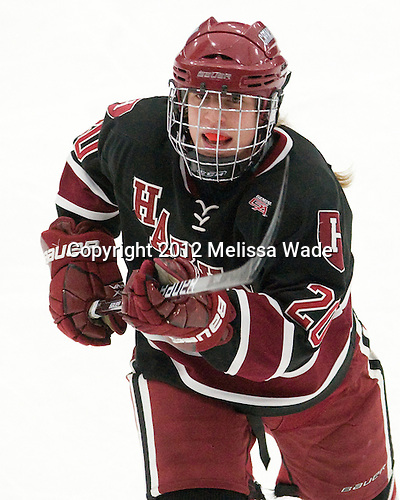 Michelle Picard (Harvard - 20) - The Boston University Terriers defeated the Harvard University Crimson 5-2 on Monday, January 31, 2012, in the opening round of the 2012 Women's Beanpot at Walter Brown Arena in Boston, Massachusetts.