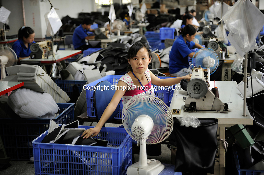 Taiwan-capital furniture factory in Huizhou, Guangdong, China..