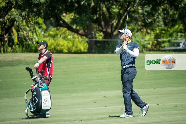 Haydn Porteous (RSA) during the 1st round of the AfrAsia Bank Mauritius Open, Four Seasons Golf Club Mauritius at Anahita, Beau Champ, Mauritius. 29/11/2018<br /> Picture: Golffile | Mark Sampson<br /> <br /> <br /> All photo usage must carry mandatory copyright credit (&copy; Golffile | Mark Sampson)